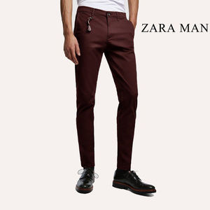 Zara Man maroon SLIM FIT CHINO PANTS size 34